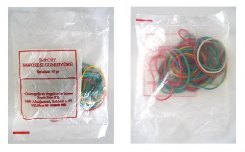 Bef. gumigyűrű színes