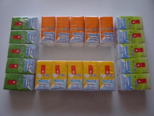 Papírzsebkendő 10 db - os illatos(4 illat)