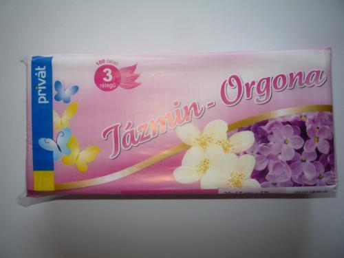 Papírzsebkendő PRIVÁT Jázmin-Orgona