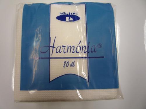 Szalvéta Harmónia fehér 80 db - os